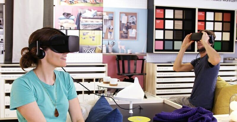 Ikea lässt Kunden mit Virtual Reality planen.