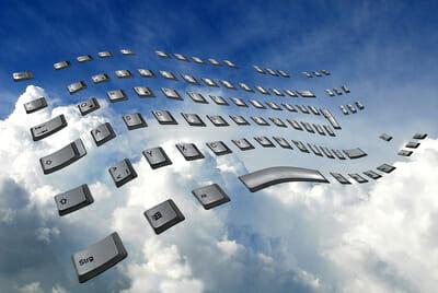 Daten-Backup in der Cloud.