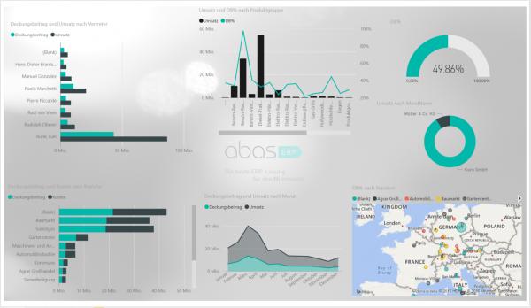 Auswertung von Geschäftsprozessen mit PowerBI von Microsoft.