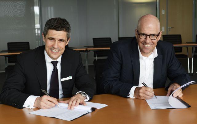 Michael Guschlbauer, Vorstand IT-Systemhaus & Managed Services, Bechtle AG (links) und Olaf Heyden, vormals CEO Freudenberg IT