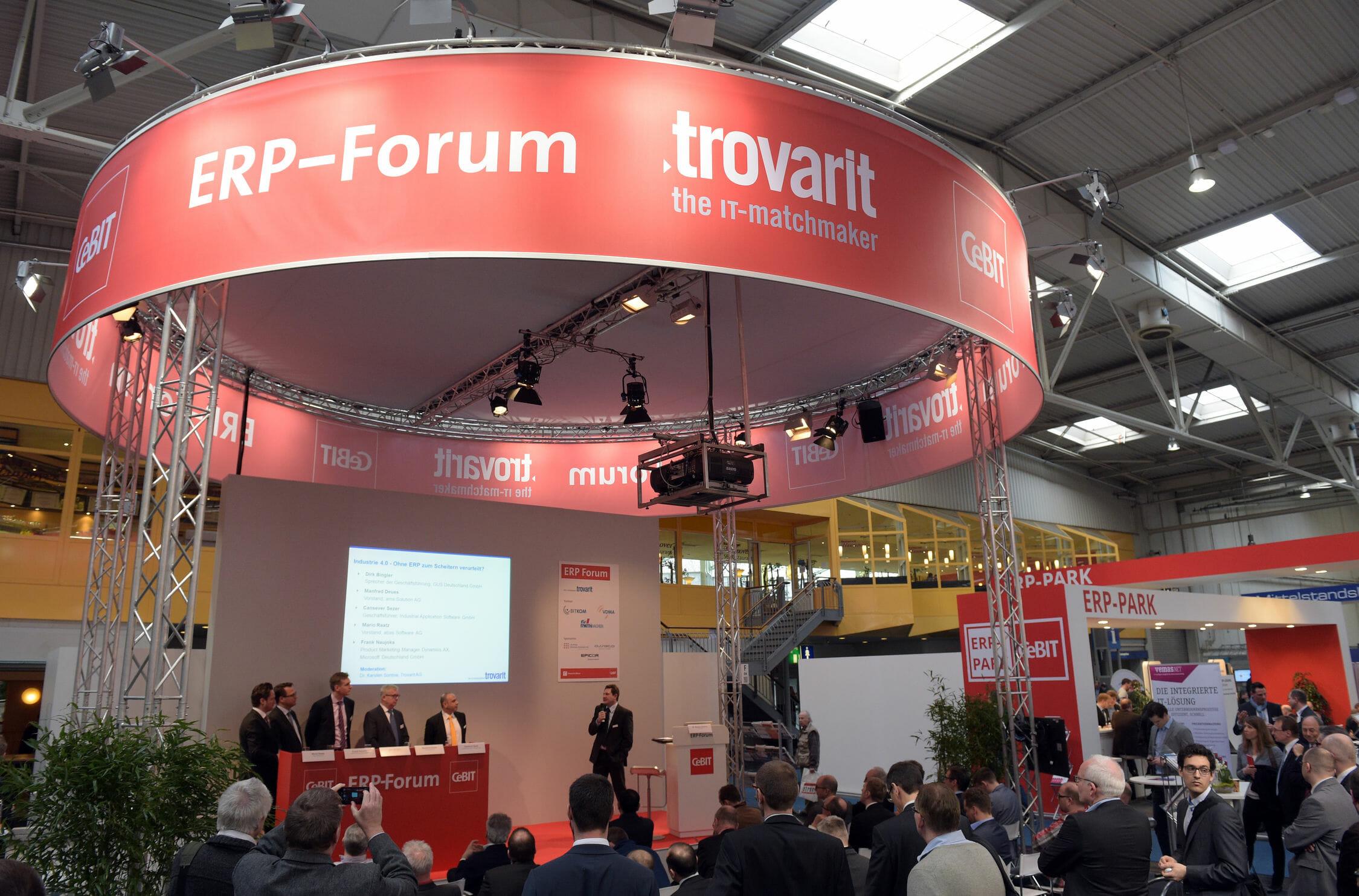 ERP-Forum auf der CeBIT 2015.