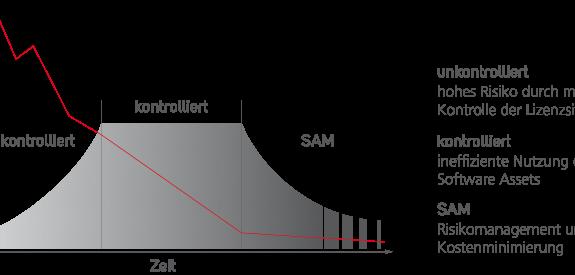 Mit einem erfolgreichen SAM minimieren die IT-Verantwortlichen das Risiko, das mit einer mangelnden Kontrolle der Lizenzsituation verbunden ist.