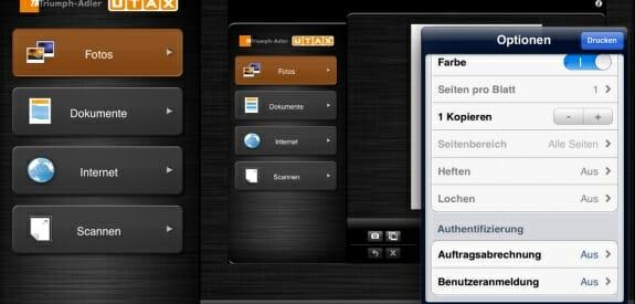 Mit der Anwendung Mobile Print App von Utax können Multifunktions- und Drucksysteme vom Display mobiler Endgeräte aus angesteuert werden.