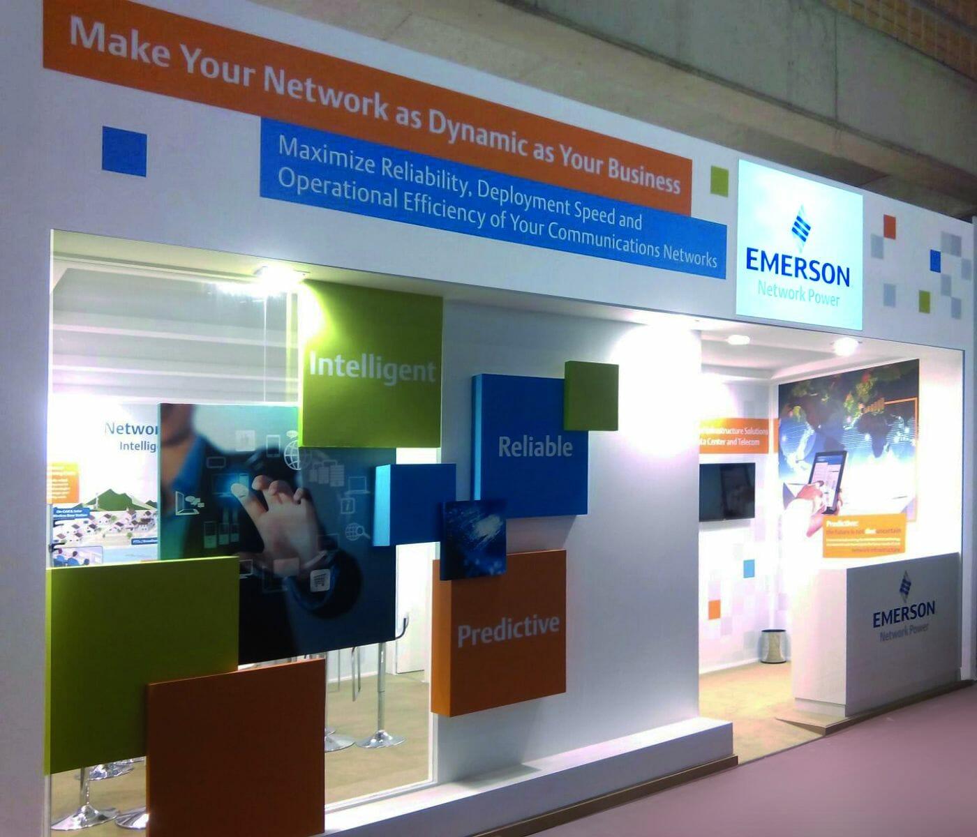 Emerson Network Power-Stand auf dem Mobile World Congress.