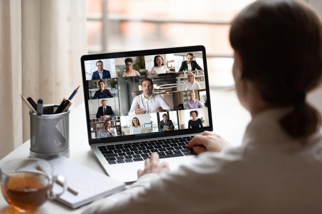 Remote Work Working Online-Meetings