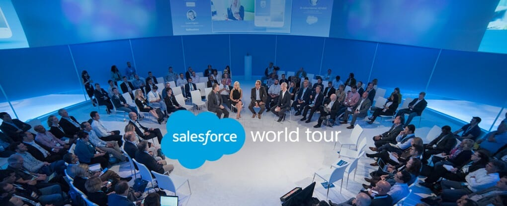 Salesforce World Tour auf der CeBIT 2016.