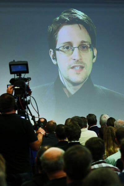 Keynote Edward Snowden auf der it-sa 2015.