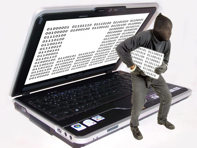 Cyber-Angriff: Datenklau.