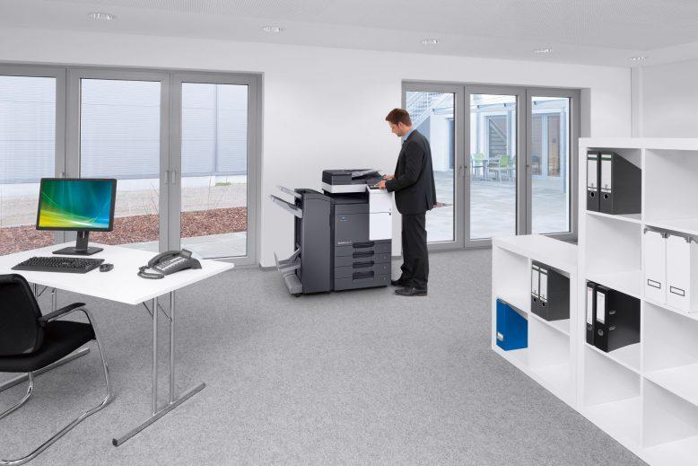 Neue Büro-Multifunktionsserie bizhub C227/C287 von Konica Minolta.