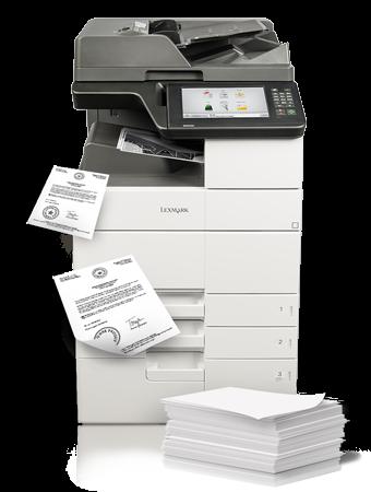 Lexmark MX 910 unterstützt Anwender beim Output- und Print-Management.