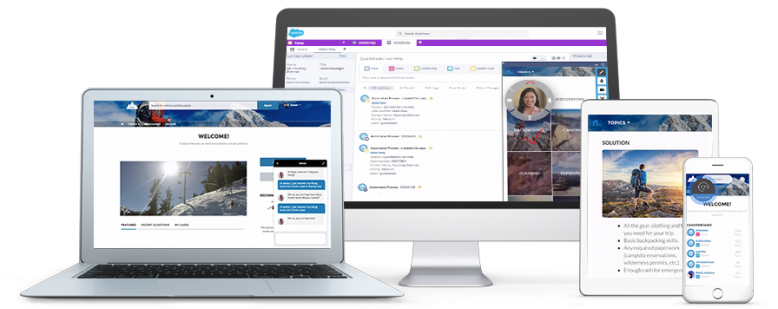 Mit den Service Cloud Lightning Snap-ins von Salesforce können Unternehmen vernetzte, personalisierte Service-Angebote umsetzen.