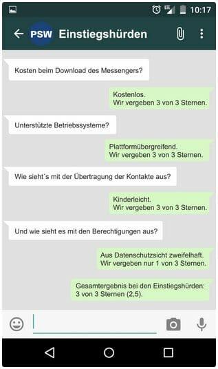 whatsApp: Einstiegshürden