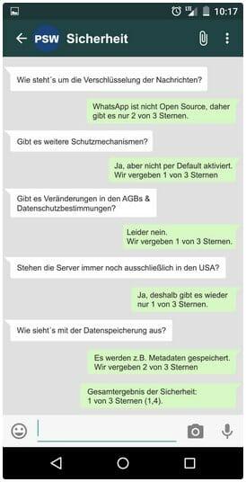 WhatsApp: Sicherheit.