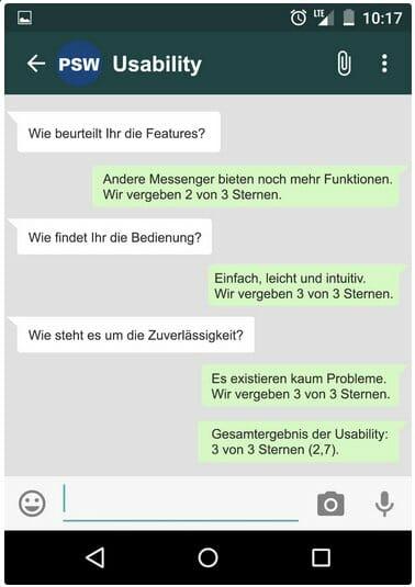 WhatsApp: Usability